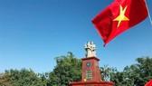 Tượng đài Hữu nghị Việt Nam-Campuchia tại tỉnh Ratanakiri. (Ảnh: TTXVN)