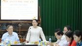 Phó Bí thư Thành ủy Võ Thị Dung phát biểu tại buổi làm việc. Ảnh: hcmcpv
