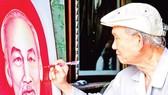 Họa sĩ Võ Đồng Minh vẽ chân dung Bác