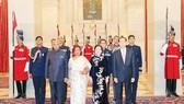 Chủ tịch nước Trần Đại Quang và Phu nhân cùng Tổng thống Ấn Độ Ram Nath Kovind và Phu nhân tại buổi Quốc yến