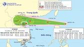 Đường đi và vị trí của áp thấp nhiệt đới