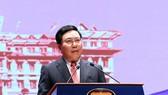 Phó Thủ tướng, Bộ trưởng Ngoại giao Phạm Bình Minh phát biểu tại hội nghị. Ảnh VGP