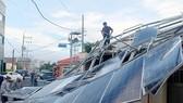 Cơn bão Soulik gây nhiều thiệt hại tại Hàn Quốc. Ảnh: YONHAP News