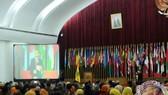 President Joko Widodo attends the celebration of the 51st anniversary of the Siliwangi Youth Force at Gedung Merdeka, Bandung, West Java (Source: Antaranews.com)