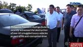 Philippines destroys dozens of luxury cars in anti-corruption campaign