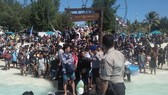 Hundreds have been evacuated from Gili Trawangan. (Photo: AFP/VNA)