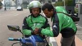 Drivers of Indonesia's ride-hailing service provider Go-Jek (Photo: AFP/VNA)