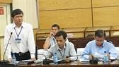Phó Giám đốc Sở GD-DT TPHCM Nguyễn Văn Hiếu phát biểu góp ý dự thảo