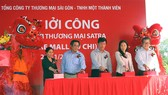 Đại diện Satra và chính quyền địa phương phát lệnh khởi công Centre Mall Củ Chi