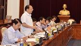 Đồng chí Tất Thành Cang, Phó Bí thư Thường trực Thành ủy TPHCM, phát biểu tại buổi làm việc