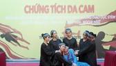 Học sinh lớp 12, Trường THPT Lê Quý Đôn (quận 3) tham gia hoạt cảnh về tác hại của chất độc dioxin