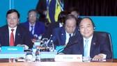 Thủ tướng Nguyễn Xuân Phúc dự và phát biểu tại phiên họp. Ảnh: TTXVN