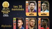 Messi, Modric. Neymar, Pogba trong danh sách ứng viên.