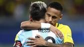 Neymar và Messi trong màu áo đội tuyển