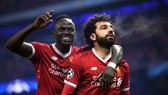 Sadio Mane (trái) và Mo Salah ở Liverpool.