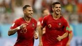 Ricardo Quaresma (trái) và Andre Silva ở tuyển Bồ Đào Nha