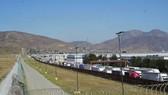 Bức tường biên giới kẽm gai Mexico - Mỹ. Ảnh: ABC NEWS
