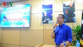 Doanh nhân Nguyễn Phan Huy Khôi – Chủ tịch Công ty Đầu tư Bảo Ninh chia sẻ tại buổi lễ.