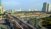 Nút giao thông-cầu vượt Hoàng Minh Giám-Nguyễn Chánh (quận Cầu Giấy, Hà Nội). (Ảnh: Huy Hùng/TTXVN)