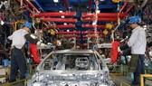 Dây chuyền lắp tại Nhà máy Ford Hải Dương. (Ảnh: Trần Việt/TTXVN)