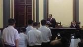 Chủ tọa phiên tòa tuyên án