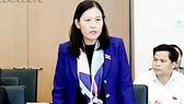 Chủ nhiệm Ủy ban Tư pháp Lê Thị Nga