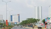 Một góc thị xã Phú Mỹ. Ảnh: NLĐ Online