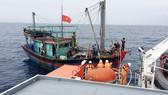Trung tâm Phối hợp tìm kiếm cứu nạn hàng hải Việt Nam đã điều động tàu SAR 411 cứu nạn khẩn cấp tàu NA 90909 TS