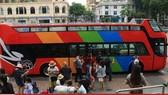 Xe buýt 2 tầng phục vụ du lịch tại Hà Nội