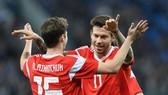 Tuyển Nga trong trận hòa Tây Ban Nha 3-3