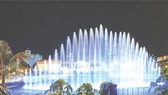 濠莊河川度假區的6層音樂噴泉舞台。