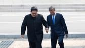 金正恩領導人邀文在寅總統進入朝鮮一方。
