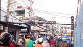 范富庶街與武成 莊街四岔路口的交通 信號燈停止活動。