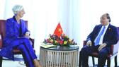 阮春福總理會見國際貨幣基金組織總裁拉加德。