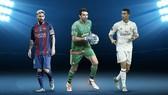 Bộ ba Leonel Messi, Gigi Buffon và Cristiano Ronaldo. Ảnh: ANSA.