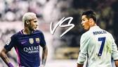 Neymar có thể sớm loại Ronaldo trong cuộc chiến giành Quả bóng vàng năm tới. Ảnh EPA