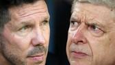HLV Arsene Wenger (phải, Arsenbal) và Diego Simeone (Atletico Madrid)