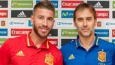 Sergio Ramos và HLV Julen Lopetegui