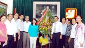 Leaders visit SGGP on Vietnam Revolutionary Press Day