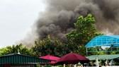 Cháy khu vui chơi trẻ em gần sân Mỹ Đình, Hà Nội