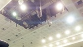 Nobody gets hurt in sport house roof fall