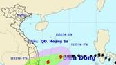 Bão số 5 cách Khánh Hòa-Ninh Thuận 400km về phía Đông Đông Bắc