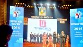 Tổng Công ty Tín Nghĩa đạt giải thưởng Thương hiệu Quốc gia năm 2014