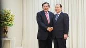 Thủ tướng Campuchia Hun Sen tiếp Bí thư Thành ủy TPHCM Lê Thanh Hải