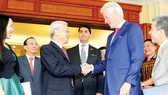 Tổng Bí thư Nguyễn Phú Trọng, Chủ tịch nước Trương Tấn Sang tiếp nguyên Tổng thống Hoa Kỳ Bill Clinton