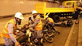 TPHCM: Diễn tập chữa cháy, cứu nạn trong đường hầm vượt sông Sài Gòn