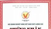 Sản phẩm bột ngọt, hạt nêm của Vedan đạt nhãn hiệu Chứng nhận hàng Việt Nam chất lượng cao năm 2016