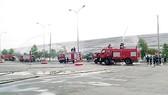 Diễn tập chữa cháy tại Công ty Xử lý chất thải Việt Nam