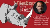 Hollywood movie star in Vietnam to protect rhinos