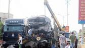 Đâm xe chở gỗ, tài xế xe tải tử vong tại chỗ